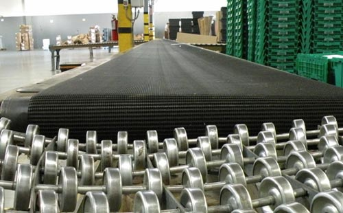 Long view of our power conveyor and roller.